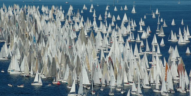 Oj vad många båtar